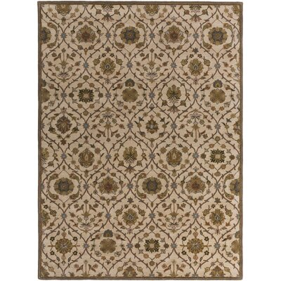 Phinney Hand-Tufted Cream Area Rug Rug Size: Rectangle 4 x 6