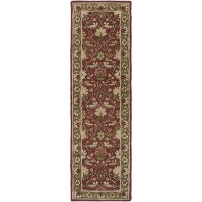 Dyer Avenue Hand-Tufted Red Area Rug Rug Size: Runner 23 x 14