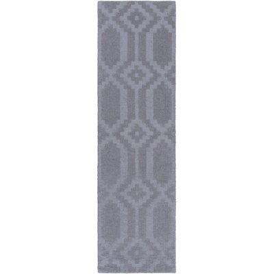 Metro Scout Hand-Loomed Gray Area Rug Rug Size: Runner 23 x 12
