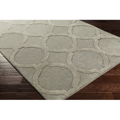 Labastide Hand-Tufted Charcoal Area Rug Rug Size: Rectangle 4 x 6