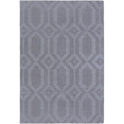 Brack Hand-Loomed Gray Area Rug Rug Size: Rectangle 6 x 9