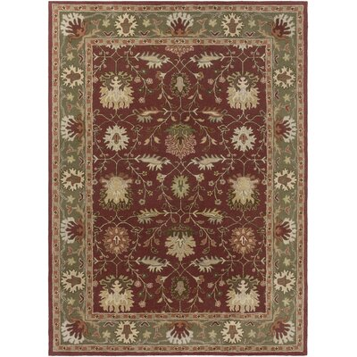 Dyer Avenue Hand-Tufted Red Area Rug Rug Size: Round 36