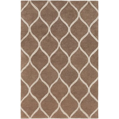 Urban Cassidy Hand-Tufted Brown Area Rug Rug Size: 76 x 96