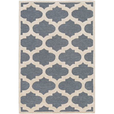 Arise Hadley Hand-Tufted Blue Area Rug Rug Size: 76 x 96