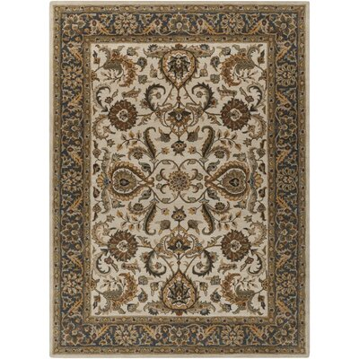 Middleton Georgia Ivory/Charcoal Area Rug Rug Size: 3 x 5
