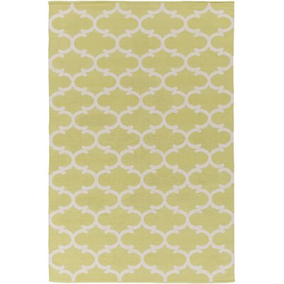Ayles Yellow/Ivory Area Rug Rug Size: Rectangle 8 x 10