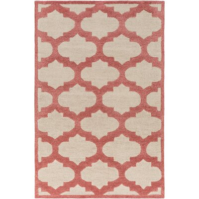 Boise Hand-Tufted Ivory/Cherry Area Rug Rug Size: Rectangle 76 x 96