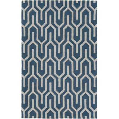 Zacarias Hand-Tufted Blue Area Rug Rug Size: Rectangle 5 x 8