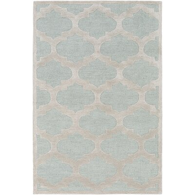 Arise Hadley Hand-Tufted Light Blue Area Rug Rug Size: Round 6