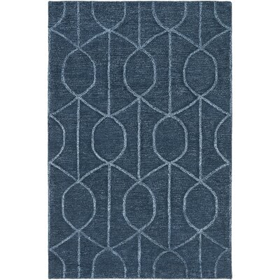 Abbey Hand-Tufted Blue Area Rug Rug Size: Round 6'