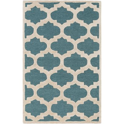 Boise Hand-Tufted Teal Area Rug Rug Size: Rectangle 5 x 76