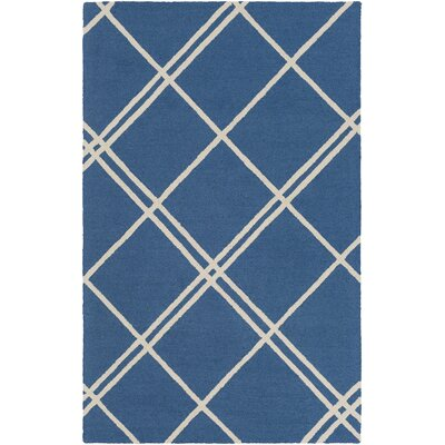 Czajkowski Hand-Tufted Blue Area Rug Rug Size: Rectangle 4 x 6