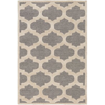 Arise Hadley Hand-Tufted Gray Area Rug Rug Size: 9 x 13