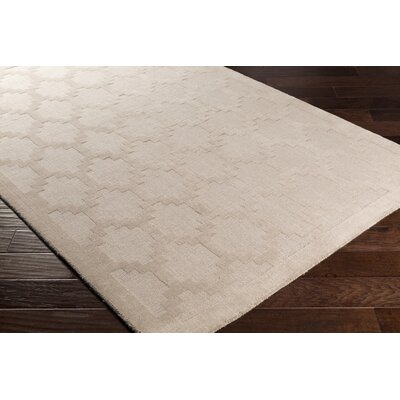 Bracey Hand-Loomed Beige Area Rug Rug Size: Rectangle 5 x 76