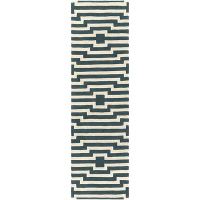 Zeitz Hand-Tufted Blue Area Rug Rug Size: Runner 23 x 14