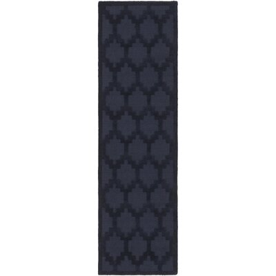 Metro Riley Hand-Loomed Navy Area Rug Rug Size: Runner 2'3