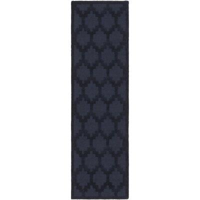 Bracey Hand-Loomed Navy Area Rug Rug Size: Runner 23 x 14