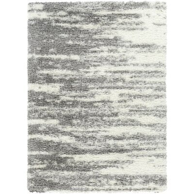 Crowther Gray/Ivory Area Rug Rug Size: Rectangle 53 x 73