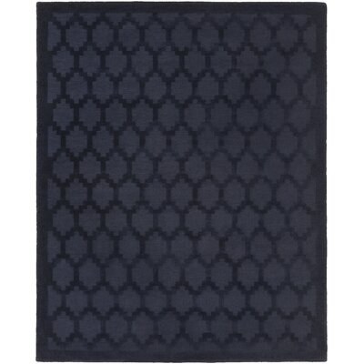 Bracey Hand-Loomed Navy Area Rug Rug Size: Rectangle 6 x 9