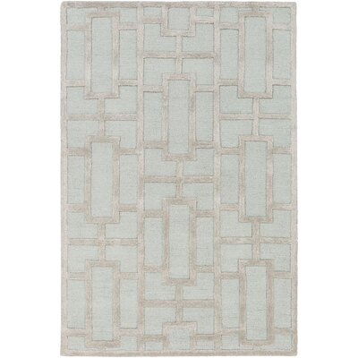 Perpetua Hand-Tufted Light Blue Area Rug Rug Size: Round 36
