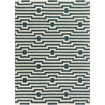 Zeitz Hand-Tufted Blue Area Rug Rug Size: Rectangle 4 x 6