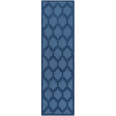 Bracey Hand-Loomed Blue Area Rug Rug Size: Runner 23 x 10