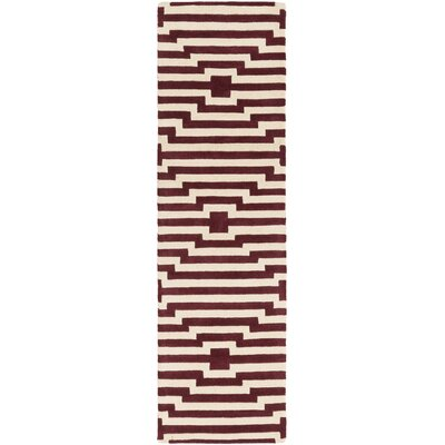 Zeitz Hand-Tufted Red Area Rug Rug Size: Runner 23 x 14