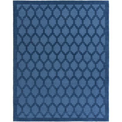 Bracey Hand-Loomed Blue Area Rug Rug Size: Rectangle 9 x 12