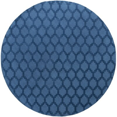 Bracey Hand-Loomed Blue Area Rug Rug Size: Round 79