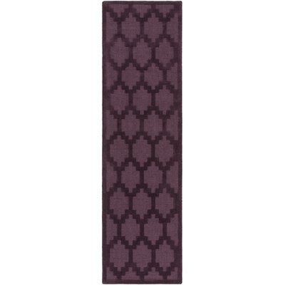 Metro Riley Hand-Loomed Plum Area Rug Rug Size: Runner 23 x 8