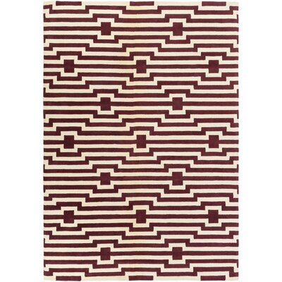 Zeitz Hand-Tufted Red Area Rug Rug Size: Rectangle 8 x 11