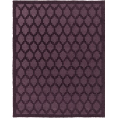 Bracey Hand-Loomed Plum Area Rug Rug Size: Rectangle 6 x 9