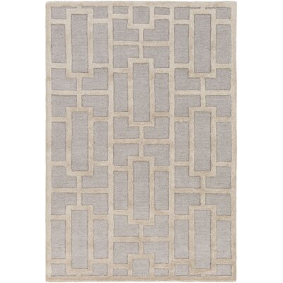 Perpetua Hand-Tufted Light Blue/Beige Area Rug Rug Size: Rectangle 76 x 96