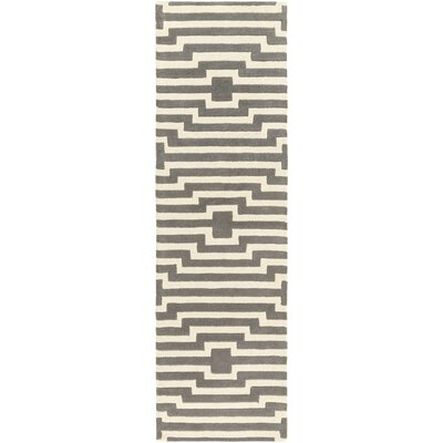 Zeitz Hand Woven Wool Gray/Ivory Area Rug Rug Size: Rectangle 3 x 5