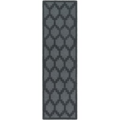 Bracey Hand-Loomed Denim Area Rug Rug Size: Runner 23 x 14