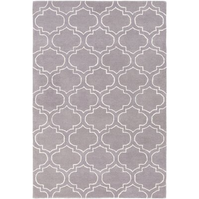 Shandi Hand-Tufted Gray Area Rug Rug Size: Rectangle 5 x 76