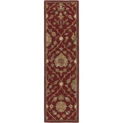 Phinney Hand-Tufted Red Area Rug Rug Size: Runner 23 x 10