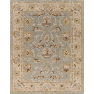 Middleton Savannah Hand-Tufted Light Blue Area Rug Rug Size: Round 8'