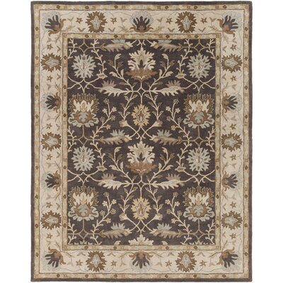 Dyer Avenue Hand-Tufted Gray Area Rug Rug Size: Round 6