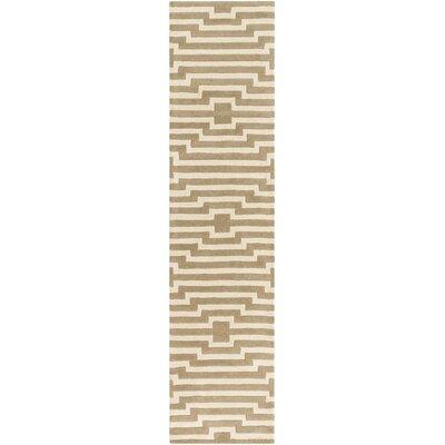 Zeitz Hand-Tufted Beige Area Rug Rug Size: Runner 23 x 8