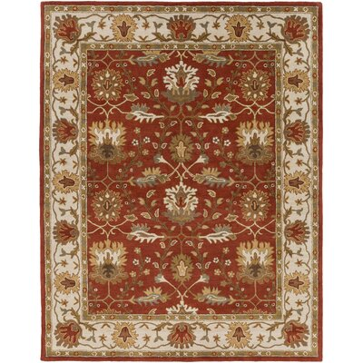 Dyer Avenue Hand-Tufted Rust Area Rug Rug Size: Round 8