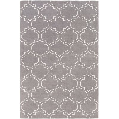 Signature Emily Hand-Tufted Charcoal Area Rug Rug Size: 6 x 9