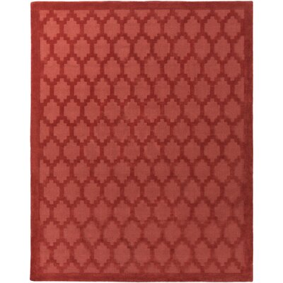 Bracey Hand-Loomed Red Area Rug Rug Size: Rectangle 9 x 12