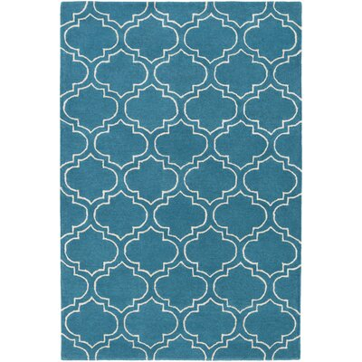 Shandi Hand-Tufted Teal Area Rug Rug Size: Rectangle 76 x 96