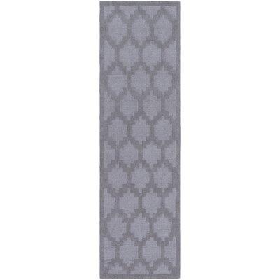 Bracey Hand-Loomed Gray Area Rug Rug Size: Runner 23 x 14