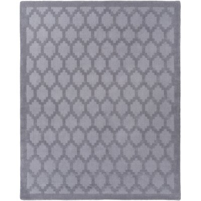 Bracey Hand-Loomed Gray Area Rug Rug Size: Rectangle 4 x 6