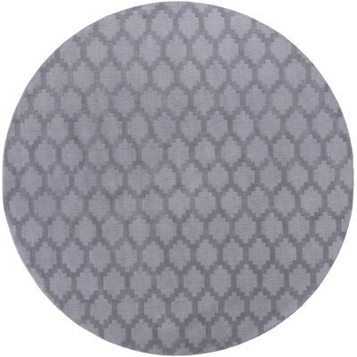 Metro Riley Hand-Loomed Gray Area Rug Rug Size: Round 6'