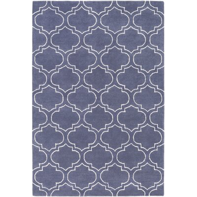 Shandi Hand-Tufted Periwinkle Area Rug Rug Size: Rectangle 76 x 96