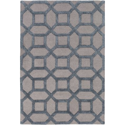 Wyble Hand-Tufted Blue Area Rug Rug Size: Round 6