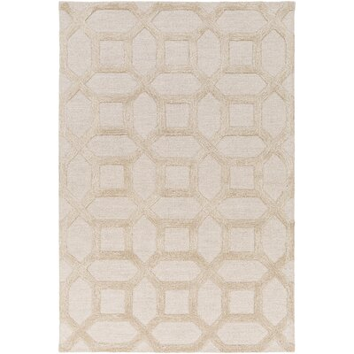 Wyble Hand-Tufted Ivory Area Rug Rug Size: Rectangle 8 x 11